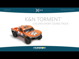 ECX 1/10 K&N Torment 2WD Short Course Truck with LiPo Battery RTR