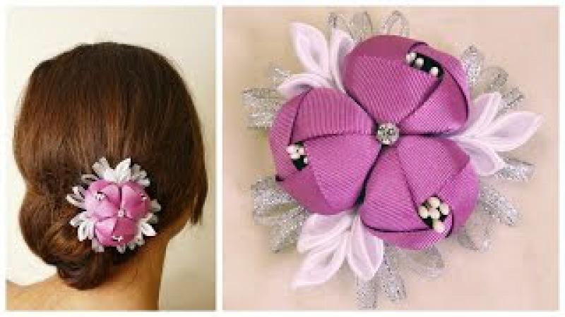 DIY ribbon flower I Kanzashi flower tutorial
