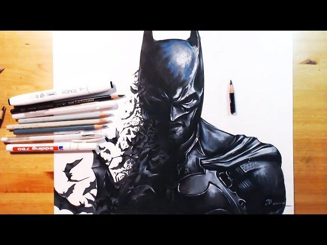 Drawing Batman(Akham Origin) 배트맨 아캄 오리진 | drawholic