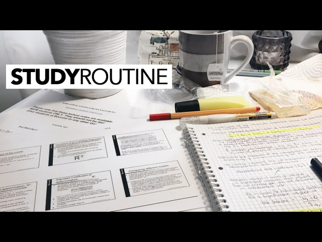 My Study Routine for University (and Exams) | TIA TAYLOR
