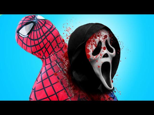 FROZEN ELSA vs SPIDERMAN! w/ Pink Spidergirl, Joker, Maleficent, Batman, Anna Hul