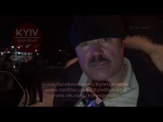 Пьяный 56-летний дядя Саша сбежал с места ДТП на Борщаговке