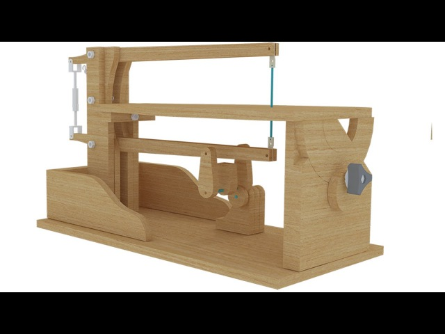 Desain mesin gergaji triplek - Scroll saw Free plan