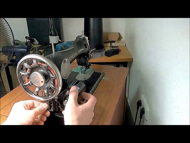 How to convert Singer for sewing leather