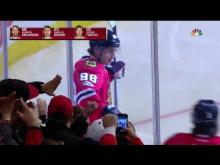 Gotta See It- Blackhawks chase Dubnyk on first two shots