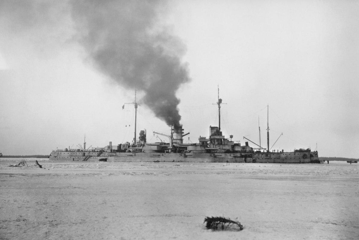 Линкор Вестфален у Аландских о-вов,1918г