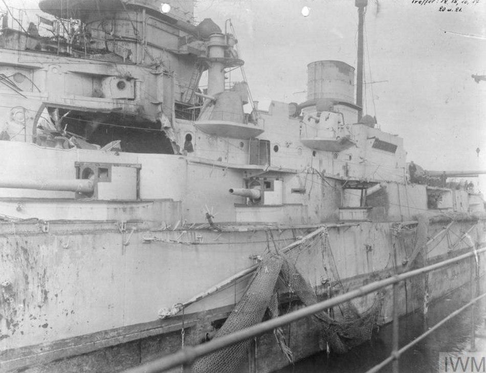 Линейный крейсер Дерфлингер после Ютландского сражения,2 июня 1916г