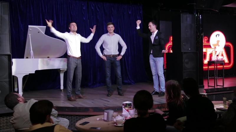 Тройная озвучка на вечернем шоу ИМПРОВИЗАЦИЯ ВЕДУЩИХ