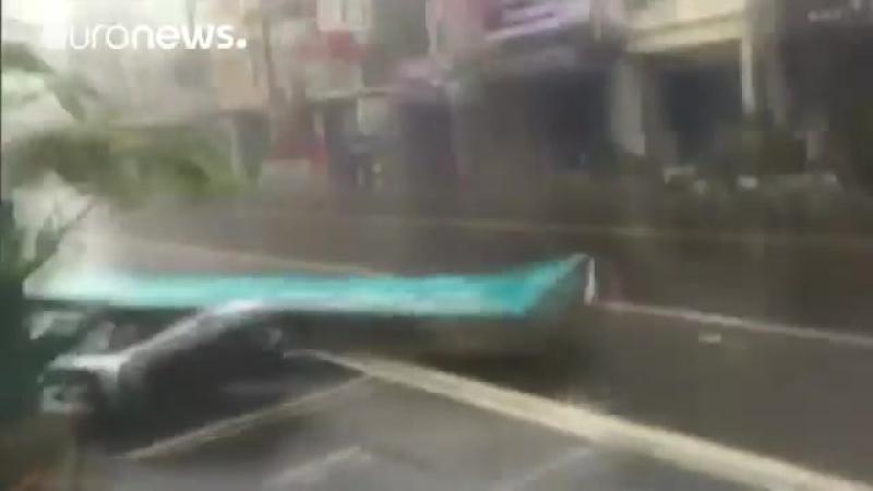 Тайфун Меранти на Тайване