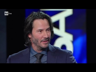 Keanu Reeves intervistato da Maria De Filippi - Sanremo - 8/02-17г.
