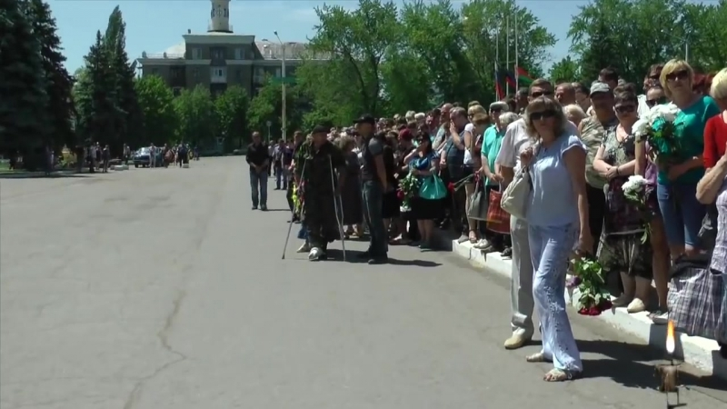 Похороны героев Стаханова