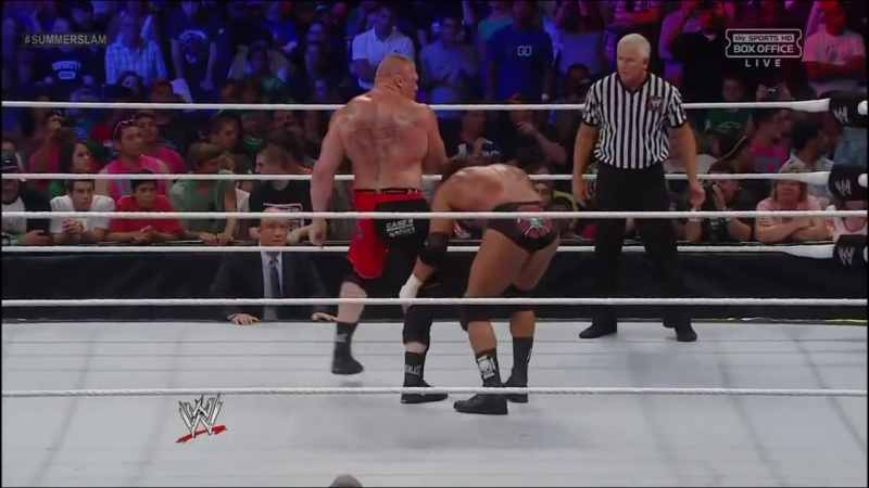 WWE Brock Lesnar vs Triple H Summerslam 2012