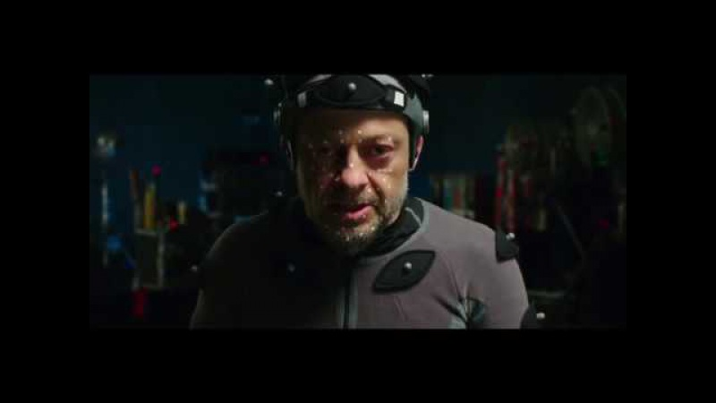 Andy Serkis face transformation for War of The Planet of The Apes