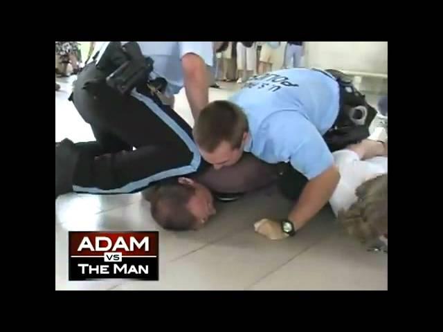 POLICE BRUTALITY - Adam Kokesh Bodyslammed By Cops For Dancing At Jefferson Memorial