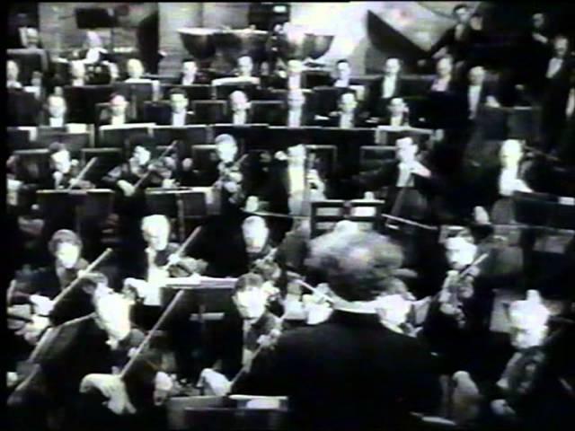 Film Het Concertgebouworkest conducted by Willem Mengelberg, Paris 1931. Tobis Klangfilm.