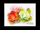 Foamiran Tea Roses Video Tutorial