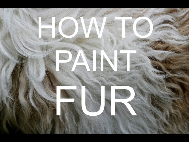 How to paint FUR Acrylic tutorial bigartquest 18