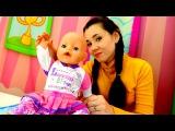 Видео для девочек. Игры в Куклы. Валя и БЕБИ БОН ЭМИЛИ делают гимнастику и МАССАЖ
