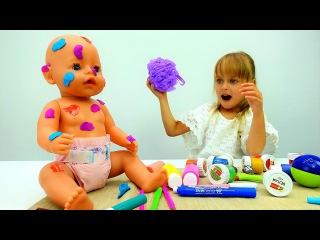 ? #БебиБон Эмили осталась ОДНА дома! Видео #длядевочек Игры куклы #BabyBorn Видео с и...