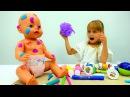 👶 БебиБон Эмили осталась ОДНА дома! Видео длядевочек Игры куклы BabyBorn Видео с и...