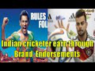 From Dhoni to Virat, know how much Indian cricketer earn through Brand Endorsements