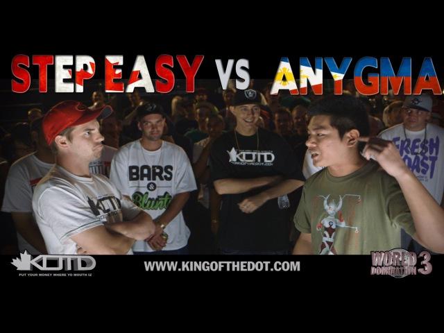 KOTD - Rap Battle - Step Easy vs Anygma   WD3