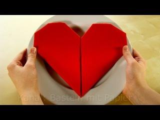 Servietten falten: Herz - einfache DIY Tischdeko basteln für Hochzeit & Geburtstag