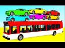 Мультик Про Машинки Автобус Цветные Машинки и Супер Герои Учим Цвета Детское Развивающее Видео