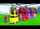 Мультики про Машинки Вертолёты и Цветные Автобусы Учим Цвета для Детей Детский Развивающий Мультик