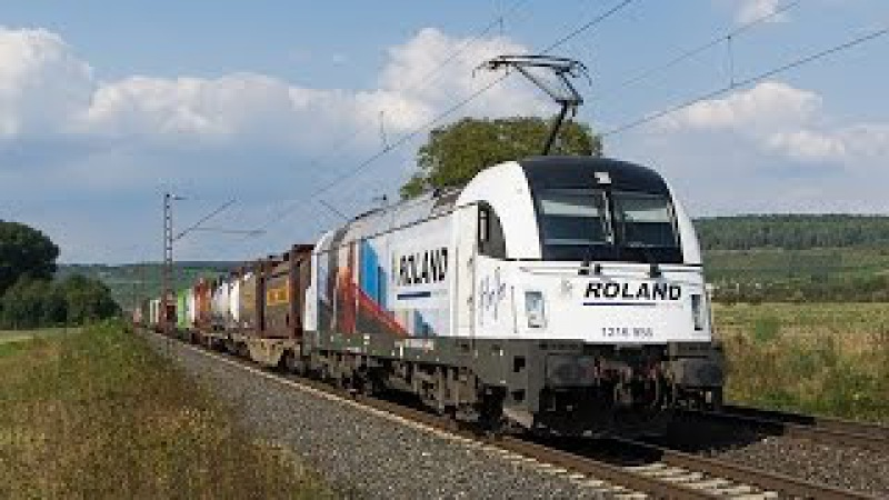 Roland Taurus, WLE 187 mit Warsteiner und viel Güterverkehr im Maintal