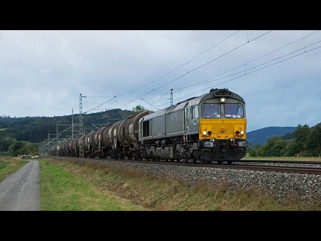 Class 66, HSL 185, Strabag G2000 und viel Güterverkehr auf der Frankenwaldbahn