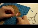 Как спрятать кончики нитей при вязании крючком из угла в угол вязание С2С, вязан ...