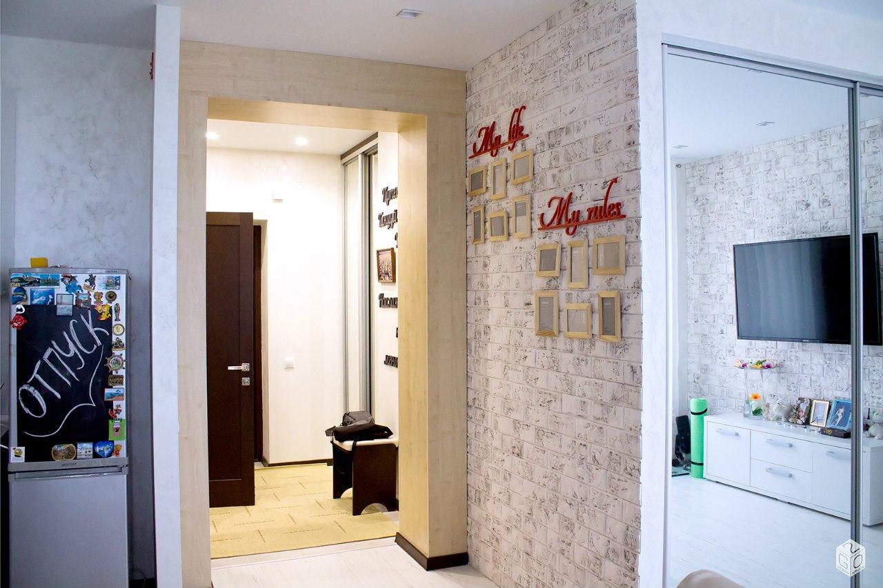 Интерьер студии 42 м из 1-комнатной квартиры в Костроме.