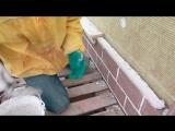 Приспособление для кладки кирпича для обкладки строений.