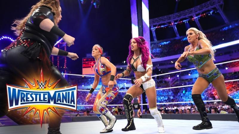 [WW QTV]☆[WrestleMania XXXIII]Raw Women Championship☆[Bayley vs Charlotte Flair vs Sasha Banks vs Nia Jax]720]