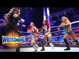 [WW QTV]☆[WrestleMania XXXIII]Raw Women Championship☆[Bayley vs Charlotte Flair vs Sasha Banks vs Nia Jax]720]