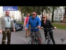 Arnold Schwarzenegger Heather Milligan bike ride in Munich