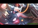 Miss Vicky cranks and revs an old Fiat 500 with a sexy skirt and black stockings FULL FREE VIDEO
