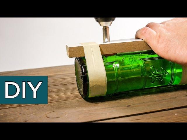 Как идеально просверлить бутылку Новогодний светильник из бутылки своими руками стройхак
