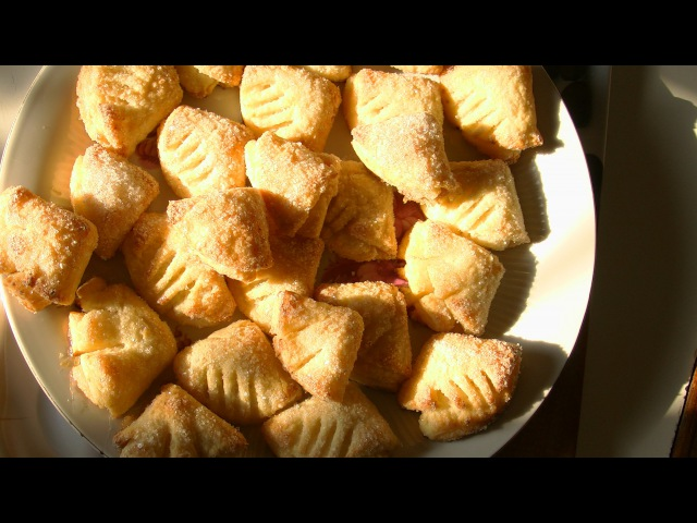 Творожное печенье Гусиные лапки.