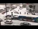 MONTREAL CANADA CRAZY FUNNY SNOW ICE CAR ACCIDENT - Funny Pileup [2016-12-05] (Bonus Footage)