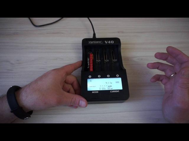 Тест аккумулятора TrustFire 14500 3.7V 900mAh Li-ion. VariCore V40