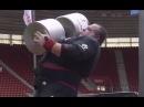 Dimitar Savatinov sets WORLD RECORD 143kg Dumbbell Press 2017 Ultimate Strongman Summermania