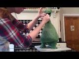 3D T-Rex dinosaur cake
