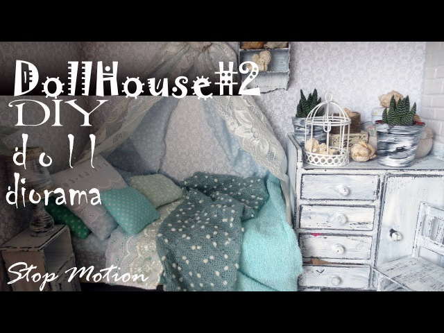 DIY: Dollhouse2 How to make shabby chic room for doll Pullip, Monster High, Blythe