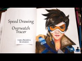 Tracer | Overwatch | Blizzard | Time Lapse | Speed Drawing