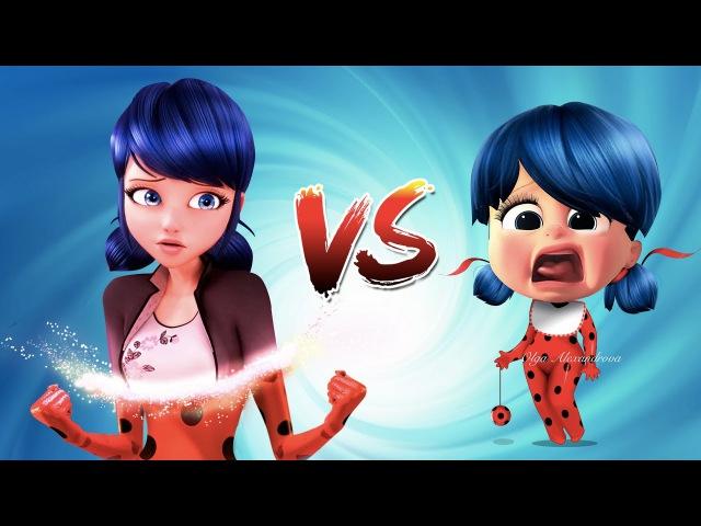 Miraculos Ladybug Marinette Adrien vs Baby - Superhero Funny Pranks New Episode 2017