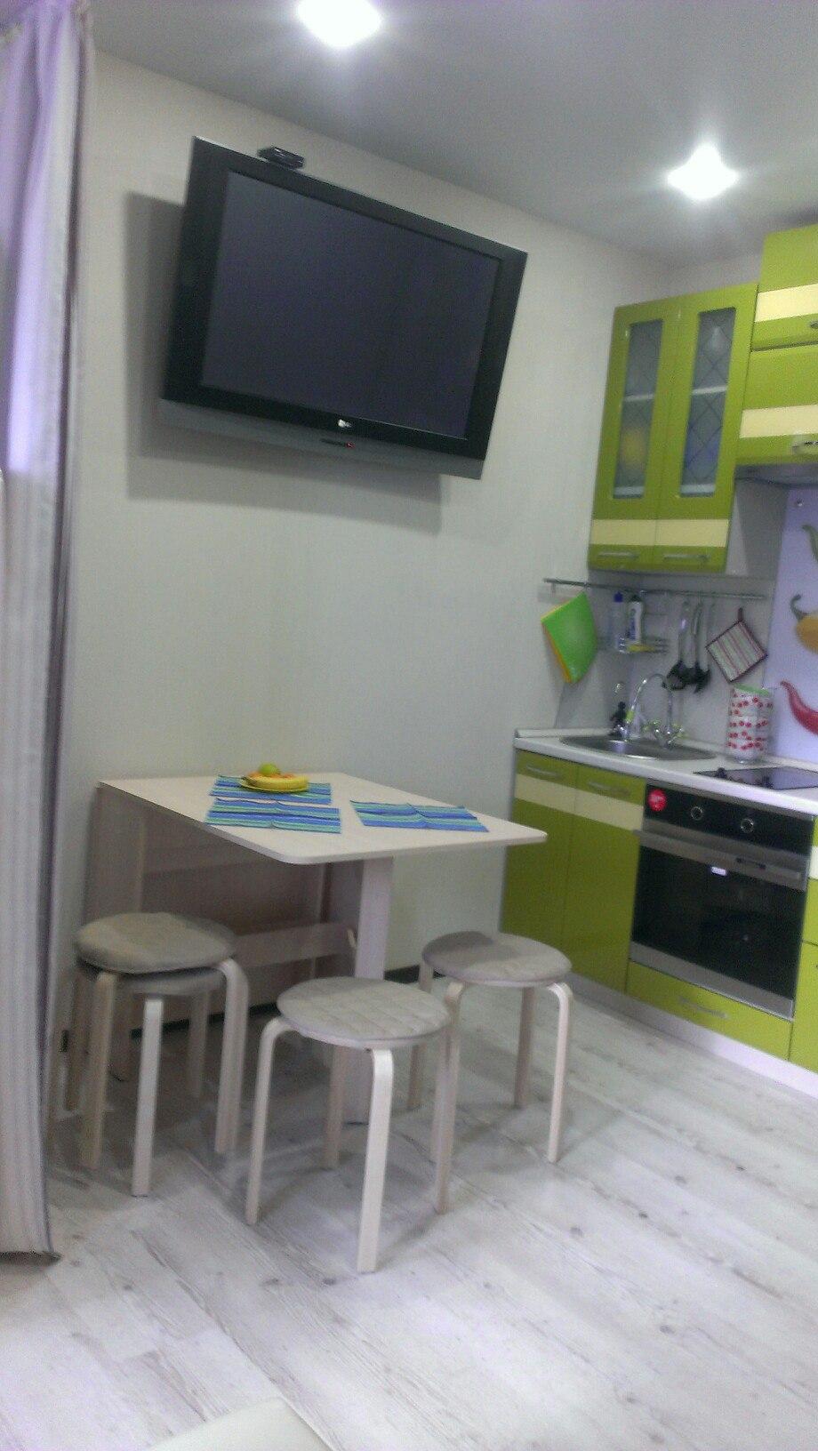 Квартира-студия 26 м для семьи с ребенком.