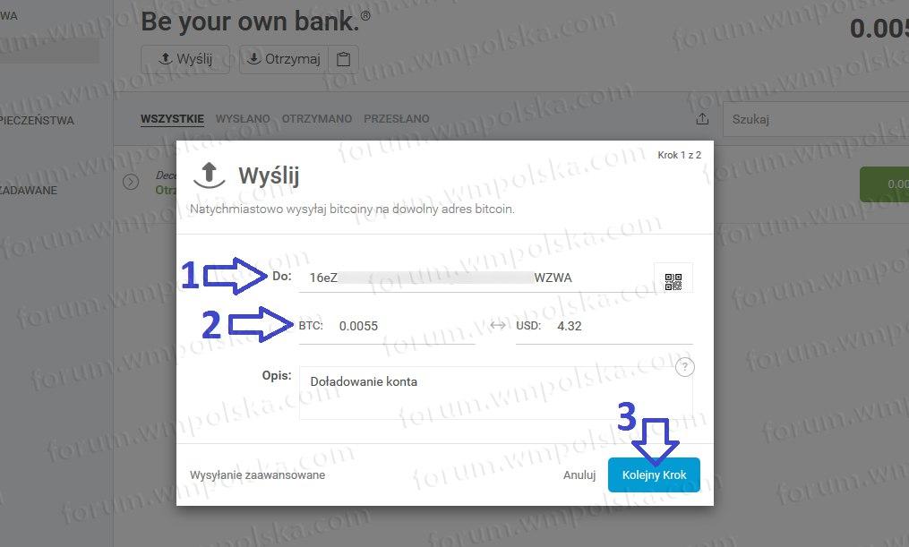 Įkrauti bitcoin piniginę iš kortelės. Mes papildome piniginę naudodami kriptovaliutų mainus
