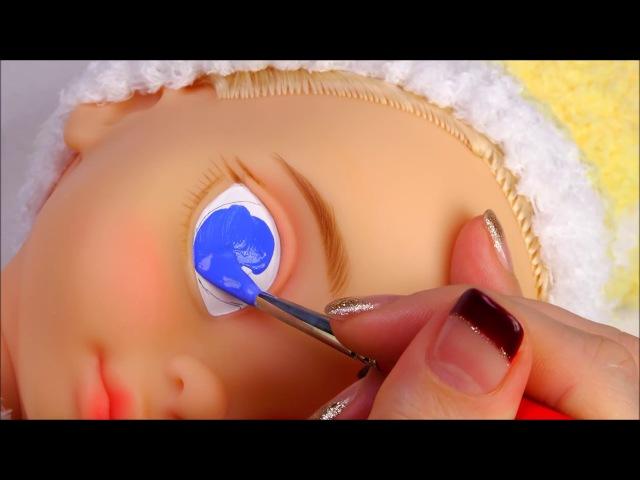 ★베이비돌 리페인팅!!신데렐라~★Repainting Disney Animators' Collection Doll Cinderella/ディズニーのプリン